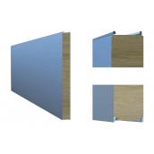 Сэндвич-панель ТПК стеновая МВ открытый замок 80х1000 мм