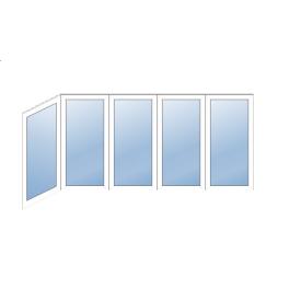 Остекление Г-образного балкона WDS 400