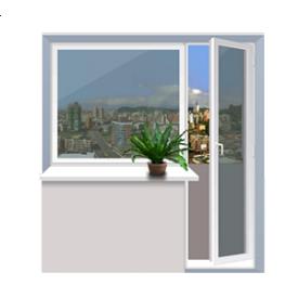 Балконний блок Rehau 2040x2160 мм