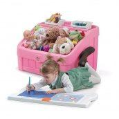 Комод для игрушек и поверхность для творчества 2 в 1 BOX & ART 48x78x48 см розовый