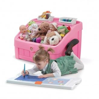 Комод для іграшок і поверхня для творчості 2 в 1 BOX & ART 48x78x48 см рожевий