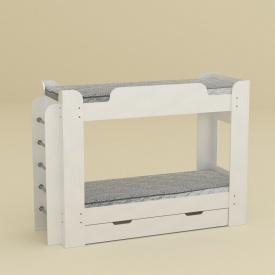 Двох'ярусне ліжко Компанит Твікс 1522х2108х776 мм біла