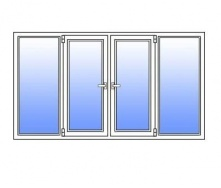 Металопластикове вікно Стімекс Кommerling 76AD 3100х1300 мм