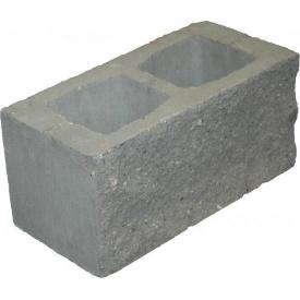 Блок декоративный 390х190х190 мм серый