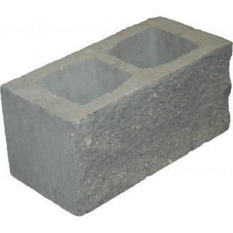 Блок декоративний 390х190х190 мм сірий