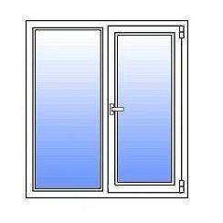 Металлопластиковое окно Стимекс Кommerling 88+ стандарт 1200х1500 мм