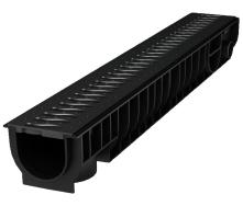 Лоток пластиковый 100.95 99 мм с решеткой пластиковой черный