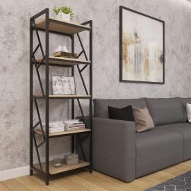 Стеллаж-этажерка 5-полочная Ромбо Лофт Металл-Дизайн 1800х550х400 мм
