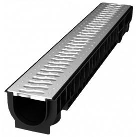 Лоток пластиковый 100.95 99 мм с решеткой пластиковой стальной