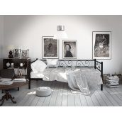 Диван-кровать Tenero Амарант 900х1900 мм черный
