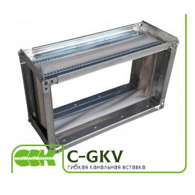 Вибровставка для канальной прямоугольной вентиляция C-GKV-50-30