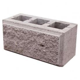 Блок строительный декоративный коричневый 390х190х190 мм
