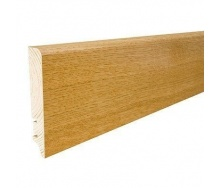 Плінтус дерев'яний Barlinek P61 Дуб глянцевий лак 90х16х2200 мм