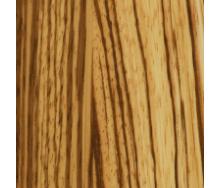 Паркетна дошка Serifoglu односмугова Зебрано Люкс T&G 1200х126х14 мм лак