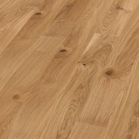 Паркетная доска BOEN Plank однополосная Дуб Vivo брашированная 2200х138х14 мм масло