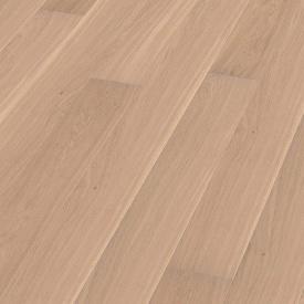 Паркетна дошка BOEN Plank однополосная Дуб Andante браширована 2200х209х14 мм вибілена масло