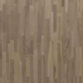 Паркетная доска трехполосная Focus Floor Ясень MISTRAL WHITE белый матовый лак 2266х188х14 мм