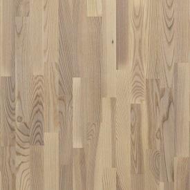 Паркетная доска трехполосная Focus Floor Ясень GREGALE легкий браш белое масло 2266х188х14 мм