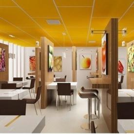 Акустическая влагостойкая плита Rockwool Rockfon Color All 600x600x15 мм желтая