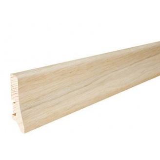Плінтус дерев'яний Barlinek P20 Дуб білий матовий лак 58х20х2200 мм