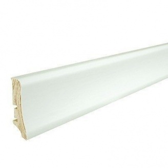 Плінтус дерев'яний Barlinek P20 вкритий білою плівкою 58х20х2200 мм