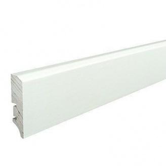 Плінтус дерев'яний Barlinek P50 вкритий білою плівкою 60х16х2200 мм