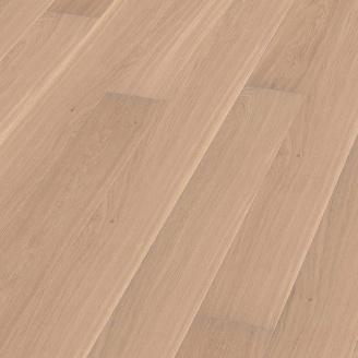 Паркетная доска BOEN Plank однополосная Дуб Andante брашированная 2200х209х14 мм отбеленная масло