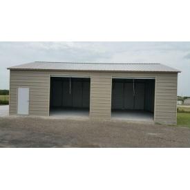 Строительство гаража двойного с роллетными воротами 7х6 м