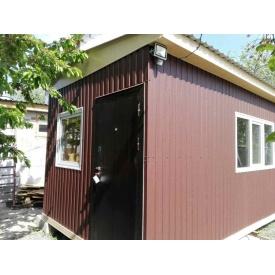 Строительство сборного каркасного дачного дома 6х3 м
