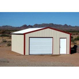 Строительство гаража каркасного двойного 7х6 м