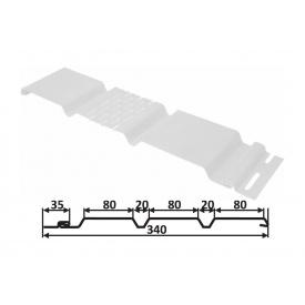 Софіт Welltech С2 3600х257 мм вертикальний перфорований білий