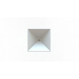 Стільниця індивідуальна у ванну кімнату суцільнолита з чашею Альтаїр 370х370 мм 120 мм