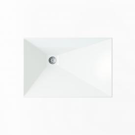 Стільниця індивідуальна у ванну кімнату суцільнолита з чашею Капела R 575х390 мм 110 мм