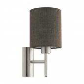 Світильник настінний бра EGLO PASTERI 40W E27 коричневий (96385)