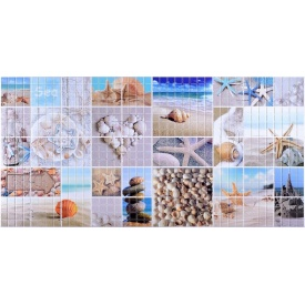 Листовая панель ПВХ Регул мозаика Морской берег 0,3 мм 955x488 мм