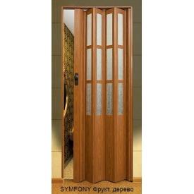 Двері-гармошка пластикова SYMFONY фруктове дерево 2,03x0,86 м