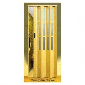 Двері-гармошка пластикова SYMFONY сосна 2,03x0,86 м