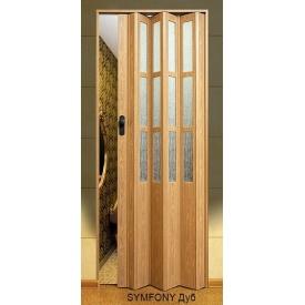 Двері-гармошка пластикова SYMFONY дуб 2,03x0,86 м