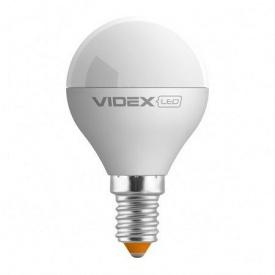 LED лампа VIDEX E-Series G45е 6W E14 4100K 540lm 220V
