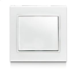 Перемикач одноклавішний прохідний ERSTE THEME 9209-31 білий
