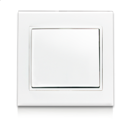 Выключатель одноклавишный ERSTE THEME 9209-01 белый