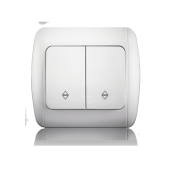 Переключатель двухклавишный проходной ERSTE CLASSIC 9201-32 белый
