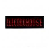 Світлодіодний бейдж ElectroHouse Червоний (EH-BL-001)