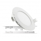 Світильник світлодіодний UKRLED вбудовуваний 6W 540Lm 4200К алюміній круглий (401)
