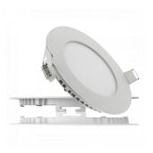 Світильник світлодіодний UKRLED вбудовуваний 6W 540Lm 6500К алюміній круглий (254)