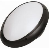 Світильник вологозахищений настінний TEB Electrik AQUA OVAL OPAL Е27 чорний (400-011-106)