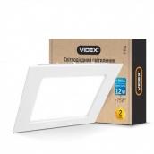 Світильник світлодіодний вбудований VIDEX квадрат 12W 5000K 220V (24073)