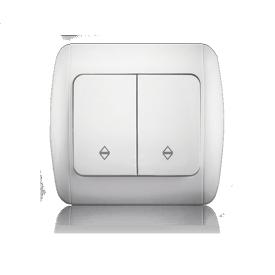 Перемикач двоклавішний прохідний ERSTE CLASSIC 9201-32 білий