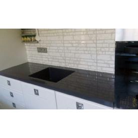 Стільниця індивідуальна на кухню суцільнолита з мийкою номер 1 500х400х195 мм з литого каменю
