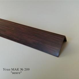 Угол пластиковый ПВХ текстура под дерево Mak Польща 2,7 м 209 10x10
